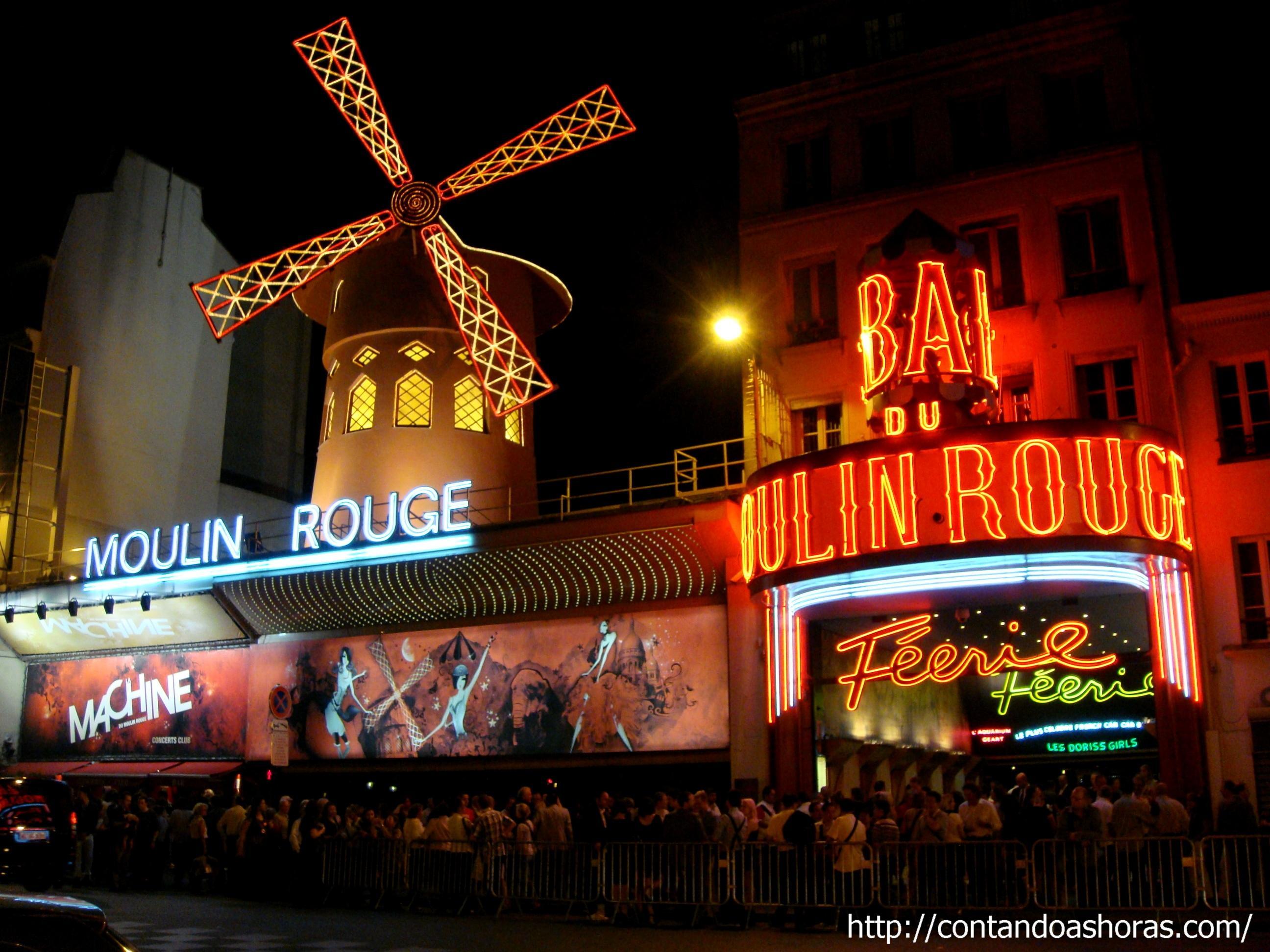 Contando As Horas 187 Arquivos 187 Moulin Rouge Em Paris