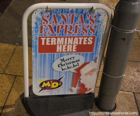 O trajeto do Santa Express passa por toda a Princes Street
