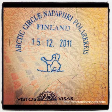 Um dos carimbos mais importantes do meu antigo passaporte: Lapônia!