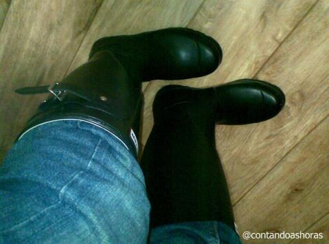Minhas botas pra enfrentar a neve!