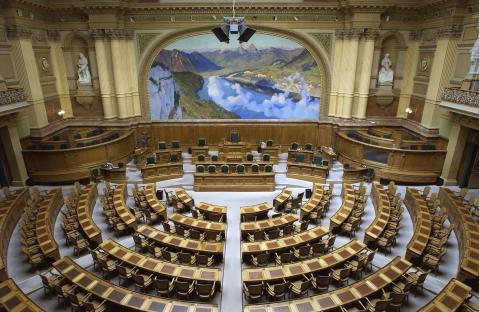 Council of States - Foto retirada do site Schweizer Parlament
