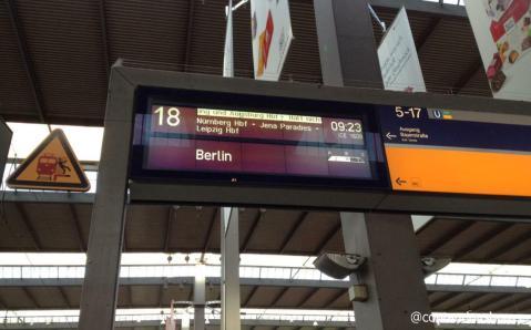 O trajeto final era Berlim, mas o trem faz algumas paradas pelo caminho, como por exemplo, Nuremberg