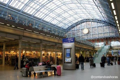 Estação de St Pancras, em Londres