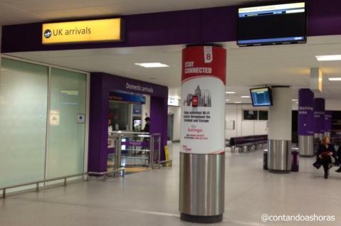 O Left Luggage do aeroporto de Edimburgo fica nessa região