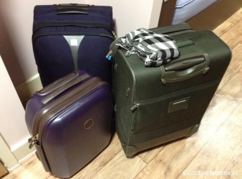As duas malas maiores eu deixei no Left Luggage